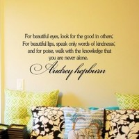 Decalgeek Audrey Hepburn Inspirational Quotes Vinyl Wall Art Decal Sticker