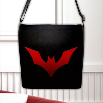 Batman Beyond of the Future Justice League Flap Closure Seal Cross Shoulder Messenger Bag