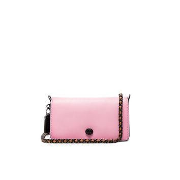 Coach 1941 Colorblock Leather Dinky Bag in Petal & Black | FWRD