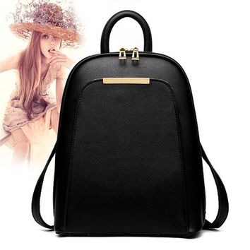 2016 New Women's Fashion PU Bags Students & Girls Leisure Schoolbag Backpacks [8081691079]