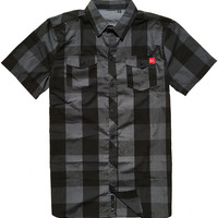 Porter Woven Top Black Plaid (SM)