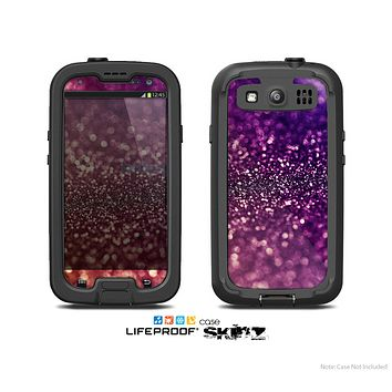 The Unfocused Purple & Pink Glimmer Skin For The Samsung Galaxy S3 LifeProof Case