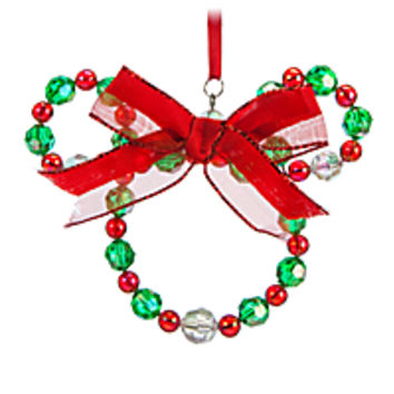 Minnie Mouse Bead Wreath Ornament