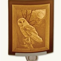 Barn Owl Night Light - Porcelain Lithophane Nightlight