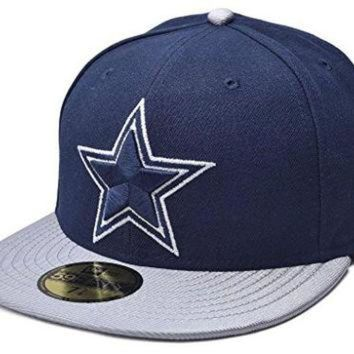 DCCK8X2 New Era 59FIFTY NFL Dallas Cowboys Jersey Basic Cap Navy/Silver Size 7 3/8