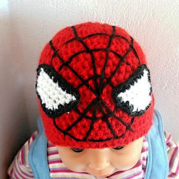 Spiderman Hat CROCHET PATTERN Beanie and Earflap by PatternStudio1