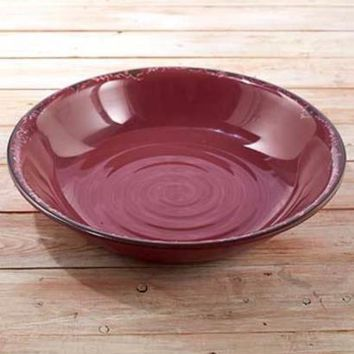 Serving Bowl Large Oversized 125 oz. Rustic Country Primitive Antique Durable