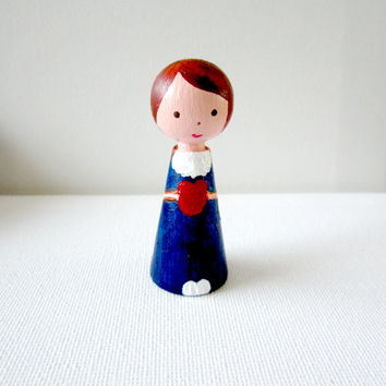 Little wooden doll - Gifts For Her -Custom doll-Peg Doll - Personalised dolls- Cake toppers - Home decor