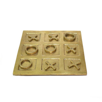 Brass Tic Tac Toe Brass Game Board Tic Tac Toe Brass Coffee Table Games