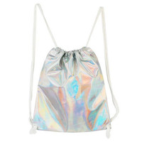 HOLOGRAPHIC STRING BAG