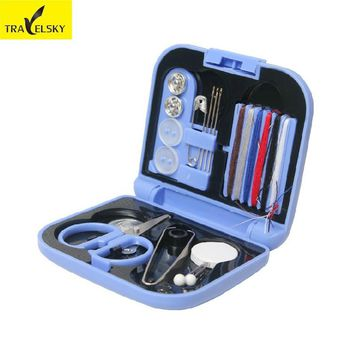 Travel Accessories Mini Portable Travel Sewing Kit  Line Package Emergency Line Set Box Sewing Tool Storage Box Free Shipping