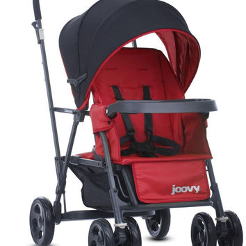 Joovy Caboose Graphite Double Stand-On Tandem  Stroller - Red