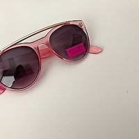 NWT Betsey Johnson Pink Retro Style Sunglasses