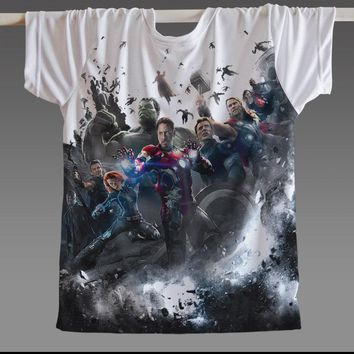 [XHTWCY] Batman Spiderman Ironman Superman Captain America Winter soldier Marvel T shirt Avengers Costume Comics Superhero mens