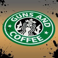 Official Rare Guns and Coffee Morale Tactical military Sticker