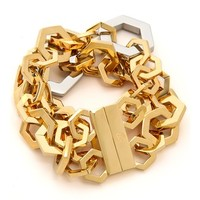 Tory Burch Hexagon Metal Bracelet