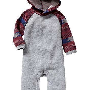 Old Navy Hooded Raglan Sleeve One Piece For Baby