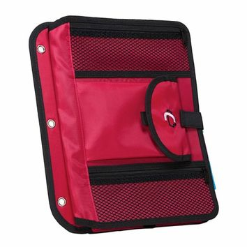Case It ACC-21 5-TAB Expanding File, Red   Staples