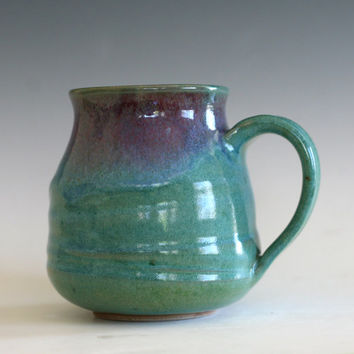 LARGE Coffee Mug, 18 oz, unique coffee mug, handmade ceramic cup, handthrown mug, stoneware mug, pottery mug, ceramics and pottery