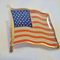 American Flag Lapel Pin Patriotic Unisex Jewelry Memorial Day Fourth of July