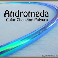 NEW - CoLoR-CHaNGiNG Polypro Hula Hoop - 'ANDROMEDA' - Free Inside Grip Option. Pro Poly with over 10,000 SOLD.
