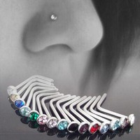 ac DCCKO2Q 10 pcs Punk Style Piercing Nose Lip Jewelry  Body Jewelry For Man Women Studs 1.8mm Pick Free Shipping