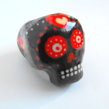 Dreadlock Bead 10mm Dread Beads Sugarskull Sugar Skulls One of A Kind Hand Cast Hand Painted Resin Bead for Dreads