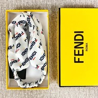 Fendi New fashion more letter couple sports leisure headband white
