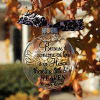 Someone In Heaven Clear Ornament from Sassy by Sacha