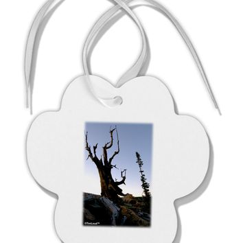 Colorado Mountain Scenery Paw Print Shaped Ornament by TooLoud