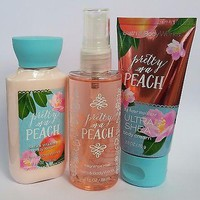 Bath & Body Works PRETTY AS A PEACH Travel Trio Body Lotion/ Mist/ Body Cream