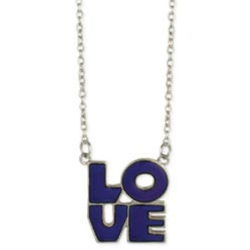 Silver 'Love' Mood Necklace