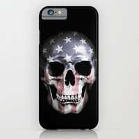 American Skull iPhone & iPod Case by Nicklas Gustafsson