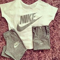 ONETOW 3 Pcs Set Nike Fashion Leisure Sportswear Set