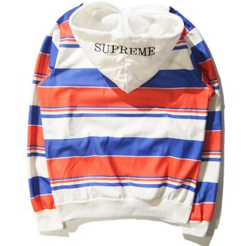 Unisex Cool Striped Hooded Sweatshirt