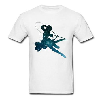 Cool Attack on Titan Perfect Killing White T Shirt Anime Lover Men Tops Tee Universe  Leader T-Shirt Cotton Clothes Gift Tshirt AT_90_11