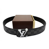 Perfect LV Woman Men Fashion Smooth Buckle Belt Leather Belt