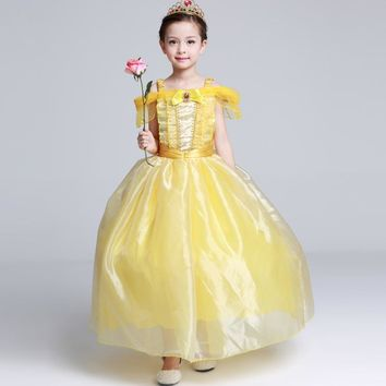beauty and the beast dress belle beauty and the beast adult costumes girl kids children 2017 girls cosplay kid child princess