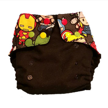 One size Avengers pocket Cloth Diaper