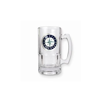 MLB Mariners 1-liter Glass Macho Tankard - Etching Personalized Gift Item