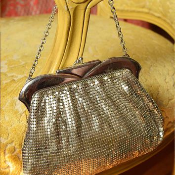 Vintage Art Deco Whiting and Davis Silver Mesh Bag