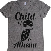 Child of Athena-Female Athletic Grey T-Shirt