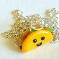 Kawaii Taco Miniature Food Charm Jewelry by PumpkinPyeBoutique