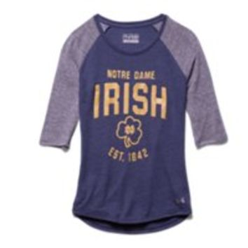 Under Armour Girls' Notre Dame UA Tri-Blend  Sleeve