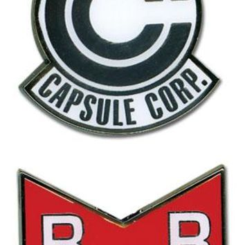 Red Ribbon Army & Capsule Corp - Pin Set - Dragon Ball Z
