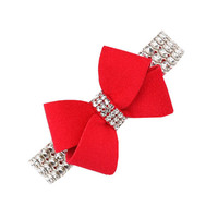 Giltmore Nouveau Bow Collar — Red
