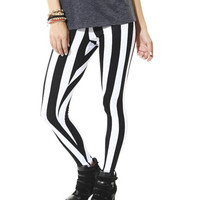 Vertical Stripe Legging  | Shop Biker Babe at Wet Seal