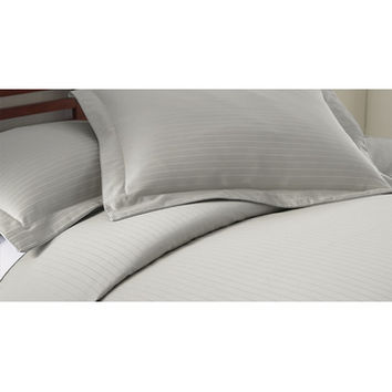 Amrapur 800 Thread Count Damask Stripe 3 Piece Duvet Cover Set In Grey