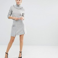 Lost Ink High Rise Mini Skirt With Front Pockets at asos.com