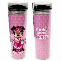 disney parks minnie mouse mornings are't pretty travel cup mug new